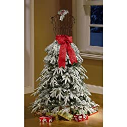 Holiday Time Artificial Christmas Trees 5' Flocked Dress...