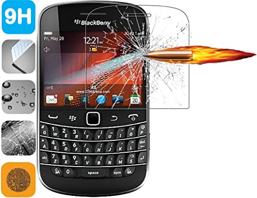 Premium 9H Tempered Glass LCD Screen Protector Guard for BlackBerry Bold 9900 9930 (Screen Protector 9900)