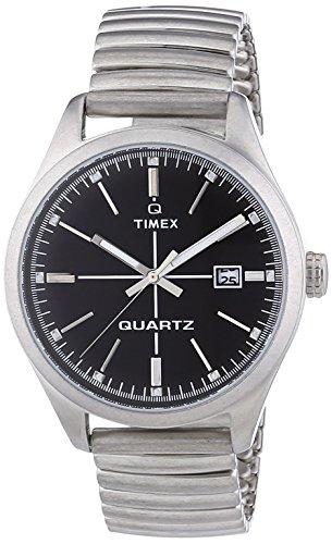 Timex Originals T2N399 Mens T Series Black Dial Steel Expander Watch