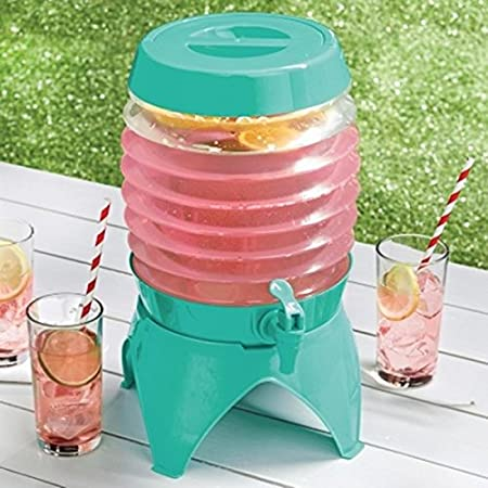 Vintage Collapsible Plastic Drinks Dispenser with Tap Juice Water ...