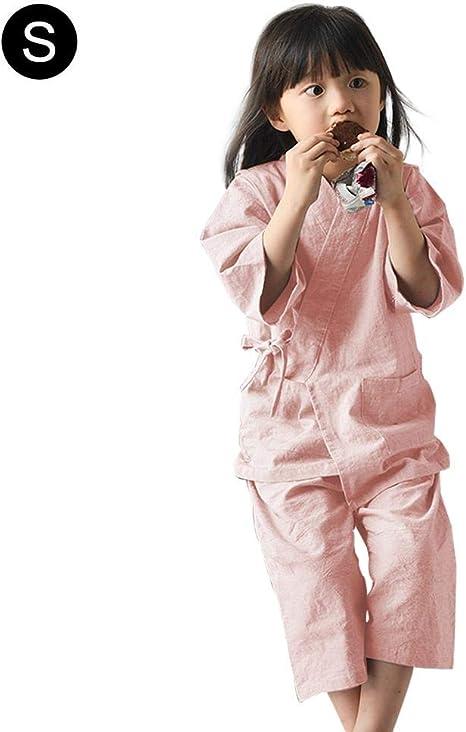 Luerme Algodón para niños Hogar japonés Pijamas de Kimono Bebé, niños y niñas Sauna SPA Aire Acondicionado Ropa Traje Primavera y otoño: Amazon.es: Ropa y accesorios