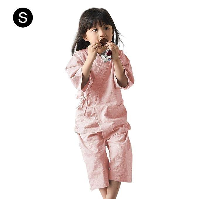 f429ec0a9 Luerme Algodón para niños Hogar japonés Pijamas de Kimono Bebé ...