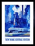 new york central system - AD NEW YORK CENTRAL SYSTEM TRAIN INDUSTRIAL PAINTING FRAME PRINT PICTURE F12X098