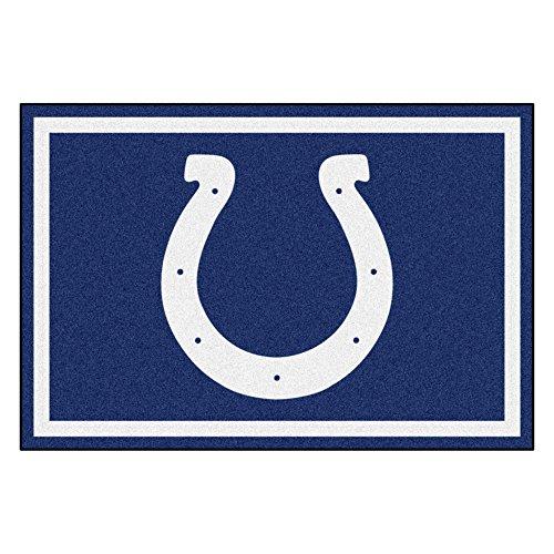 (FANMATS NFL Indianapolis Colts Nylon Face 5X8 Plush Rug )