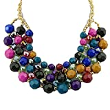 FEELONTOP® Turkish Jewelry Set Imtation Gemstone Esmalte Collar Necklace Get Earring Free Collares Mujer 2015 New Coming (colorful)