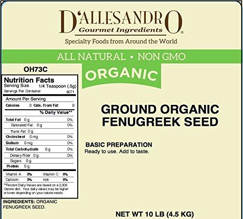 Ground Organic Fenugreek Seed, 10 LB Box