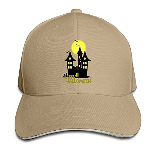 [Hotboy19 Adult Happy Halloween Reversed Baseball Hat Natural] (Sports Related Halloween Costumes 2016)