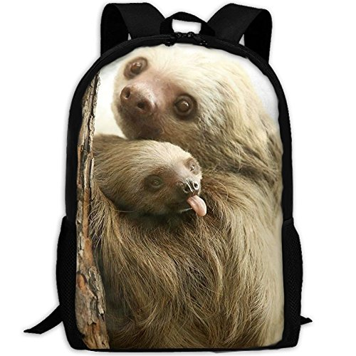 Sloth Mom And Baby Unique Outdoor Shoulders Bag Fabric Backpack Multipurpose Daypacks For - Outside Backpack Baby