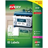 Avery Permanent Durable I.D Labels for Laser Printers, 2 x 2.625-Inches, White, Pack of 750 (6578)