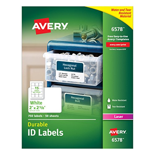 Avery Permanent Durable Printers 2 625 Inches