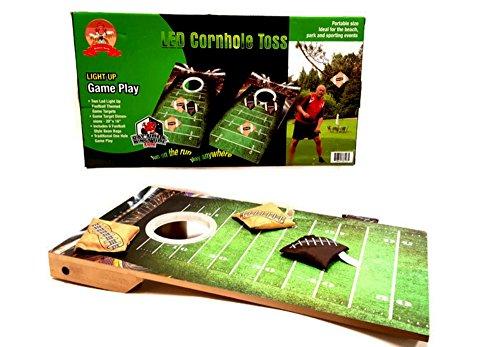 Barwench Games Junior Indoor Outdoor Led Cornhole Bean Bag