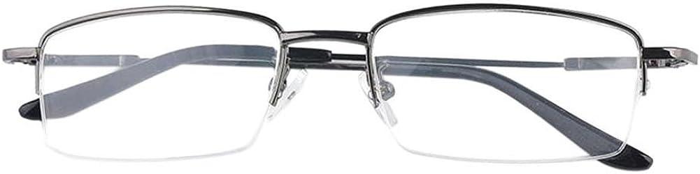 Diese sind nicht Lesen Brille 1.0~-6.0 Xinvision Herren Damen Kurzsichtig Gl/äser,H/älfte Erinnerung Metall Rahmen Kurzsichtigkeit Myopia Brillen Anti-Erm/üdung Harz Linse