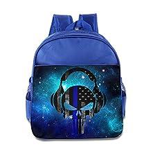 Thin Blue Line Flag Skull3 Custom Unisex Kids School Bag Latest