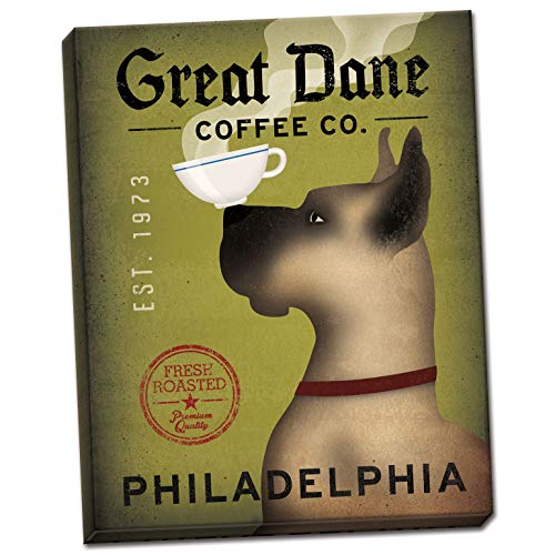 Wild Apple Great Dane Coffee Co Philadelphia by Ryan Fowler One 11x14in Hand-Stretched Canvas