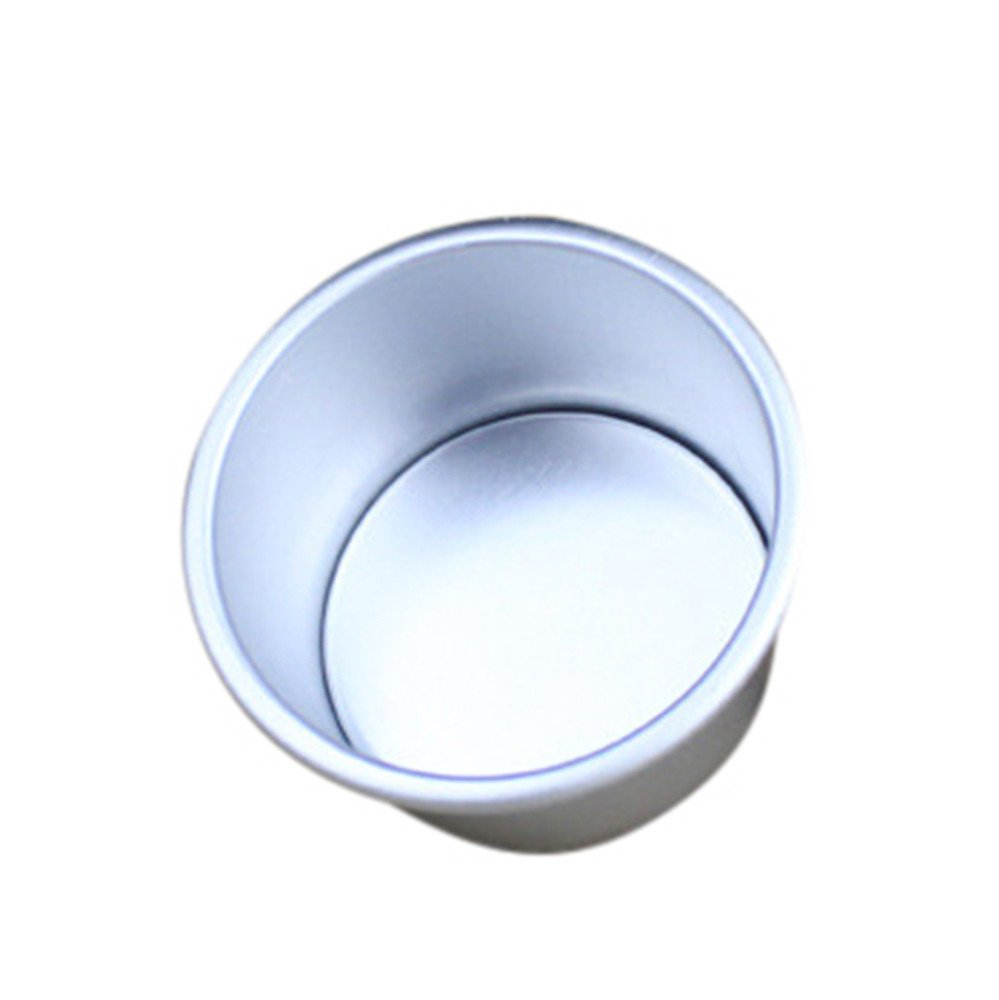 CYCTECH 2/4/6/7/8 Inch Aluminum Alloy Non-stick Round Cake Baking Mould Pan Bakeware Tool (A)