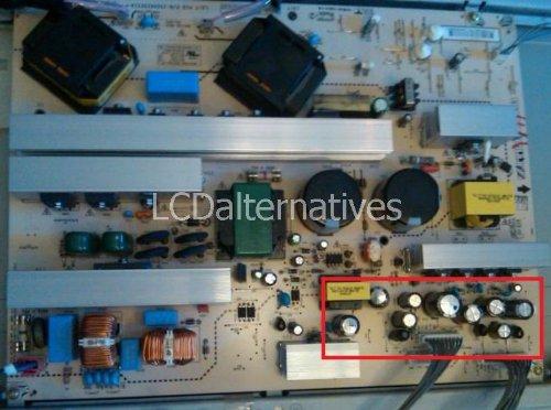 Repair Kit, LG 47LC7DF-UK, LCD Monitor, Capacitors, Not t...