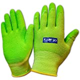 Bamboo Gardening Gloves for Women & Men - Ultra-Premium & Breathable to Keep Hands Dry - Textured Grip to Reduce Slipping Garden & Work Gloves by Kamojo (Small)