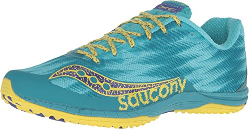 Saucony Women's Kilkenny XC Flat Teal/Yellow Sneaker 7 B (M)