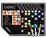Magnetic Chore Chart for Kids-Fridge Board with Responsibilities-Multi Use Dry Erase Board-Behavior and Chore Chart for Multiple Kids -Potty Training and Reinforcement Learning with Reward Star Chart