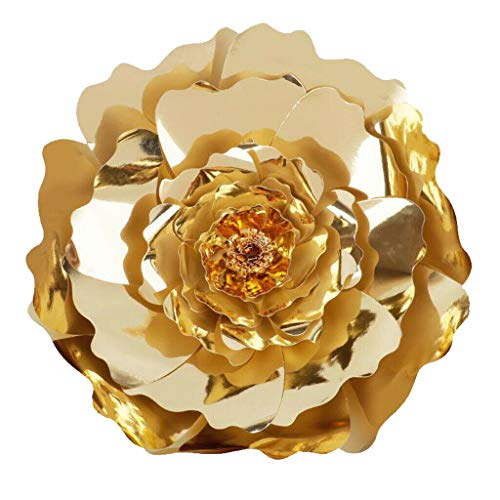 DIY Paper Flowers Wall Art Craft Backdrop Decoration Party Photobooth |Color - Gold|]()