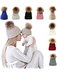 Knitted Cozy Warm Winter Snowboarding Ski Hat with Pom...