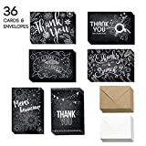 Best Man Thank You Cards - 36 Blank Thank You Cards - Bulk 4x6 Review