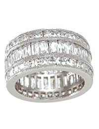 Eternity Band in Channel Setting AAA Cubic Zirconia