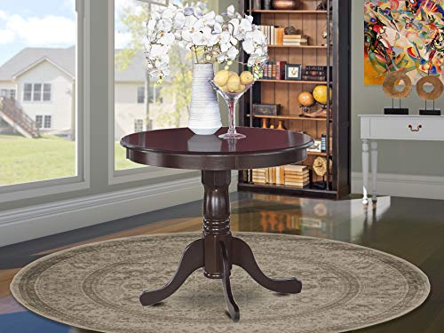 """Antique Table 36"""" Round with Cappuccino Finish"""