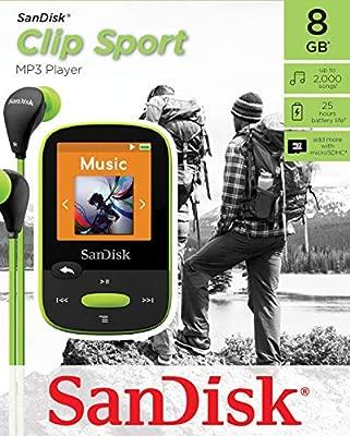 SanDisk Clip Clip Sport - Reproductor MP3 , 8GB, Verde ...