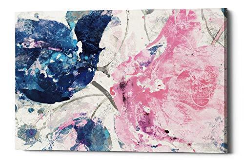 Epic Graffiti Fireworks Abstract Navy Blue Flower Crop' by Albena Hristova Giclee Canvas Wall Art, 34