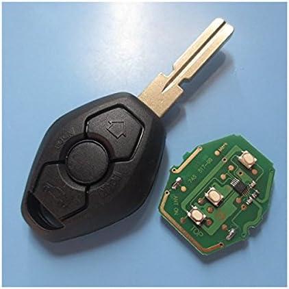 Ersatz Schlüsselgehäuse Mit 3 Tasten Autoschlüssel Schlüssel Rohling Hu58 Transponder Id44 434 Mhz Elektronik Platine Fernbedienung Gehäuse Fürbmw Rk01 Auto