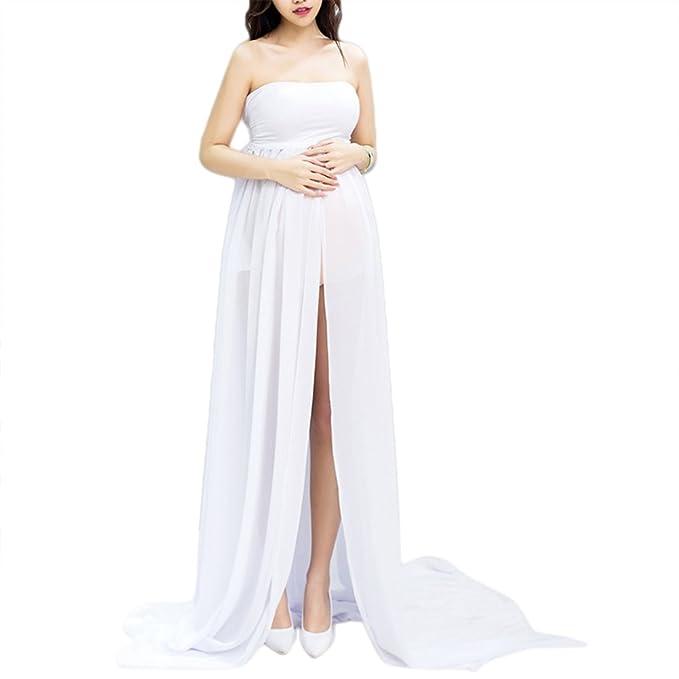 Vestidos strapless embarazadas