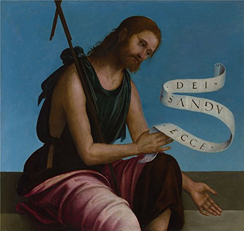 High Quality Polyster Canvas ,the Reproductions Art Decorative Canvas Prints Of Oil Painting 'Lorenzo Costa Saint John The Baptist ', 18 X 19 Inch / 46 X 48 Cm Is -