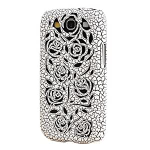 SOL ships in 48 hours Rose Hollow Design Ultralighte PC Case for Samsung Galaxy S3 I9300 (Assorted Colors) , White