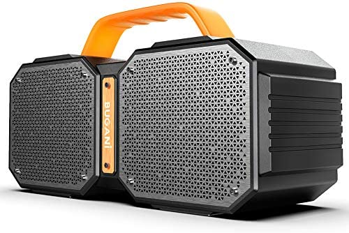 Bluetooth Speaker, BUGANI M83 Waterproof Out of doors Speaker Bluetooth 5.0, 2400 Minutes Playtime with Cost Your Telephone, 40W Wi-fi Stereo Pairing Booming Bass Speaker, for Health club, Social gathering