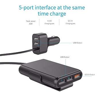 Zyx 5 Puertos QC3.0 Cargador USB Universal Adaptador USB ...