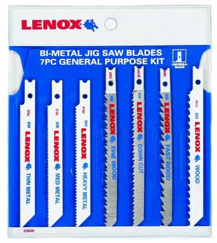 Lenox Jig Saw Blade Set Bi - Metal Pk Of 7