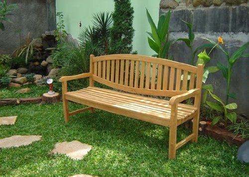 (WholesaleTeak New Grade A Teak Wood Luxurious Outdoor Garden 6 Feet Bench -Sam Collection #WHBHMS6)