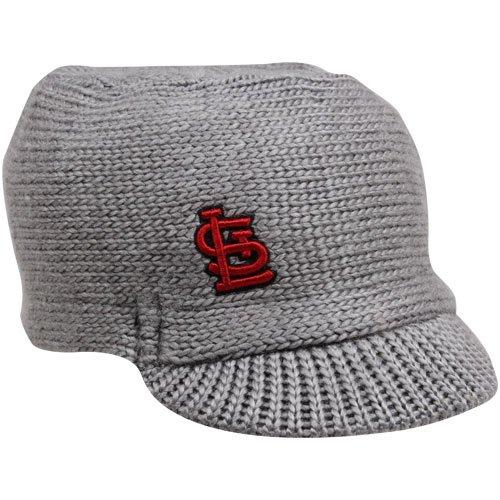 MLB New Era St. Louis Cardinals Ladies Snow Sergeant Knit Hat - Gray