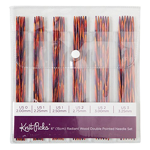 - Knit Picks Wood Double Pointed Knitting Needle Set (6