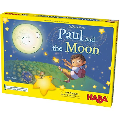 HABA Paul and the Moon Cooperative Memory Game – Lovely Bedtime Game for Ages 3-8 (Made in Germany)