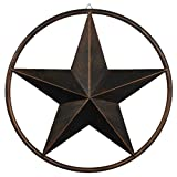 "Paixpays 12/17/24""Bronze Metal Circle Ring Star Hanging Home Wall/Door Decor Review"