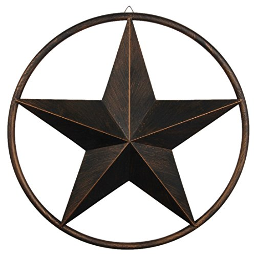 """12.2"""" Texas Barn Star Black Country Crafts for Embellishing, Home and Garden Decor"""