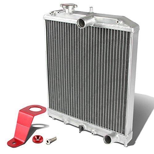 For Honda Civic EG MT (Manual Transmission) 2-Row Dual Core Aluminum Radiator w/Stay Mount Bracket ()
