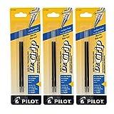 Pilot Better/EasyTouch/Dr Grip Retractable Ballpoint Pen Refills, 1.0mm, Medium Point, Blue Ink, 3-Pack