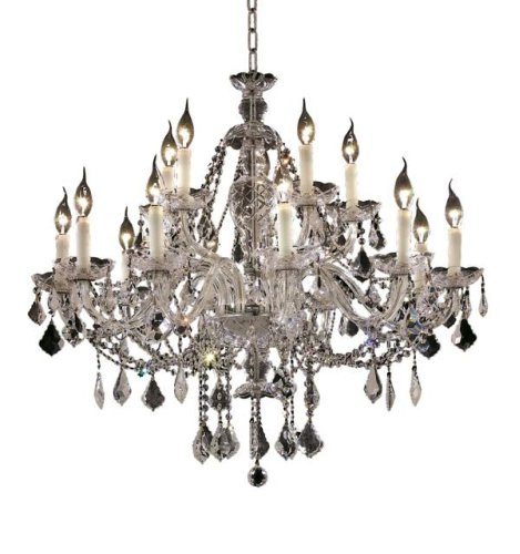 Elegant Lighting 7831G35C/RC Alexandria 12-Light Chandelier,Finish with Crystal (Clear) Royal Cut RC Crystal, 31