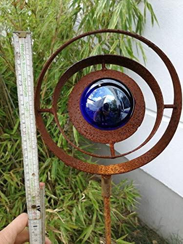 Zen Man para jard/ín Acero Inoxidable /óxido Jard/ín Cristal Bola de Escultura de jard/ín de Metal jard/ín Figure H115/* 15/cm Azul Oscuro 101582