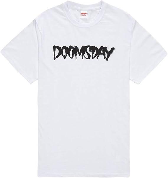 Doomsday Society Logo – Camiseta Blanca (S): Amazon.es: Ropa y accesorios