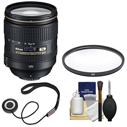 Nikon 24-120mm f/4 G VR AF-S ED Zoom-Nikkor Lens + Filter Kit (Renewed) ()