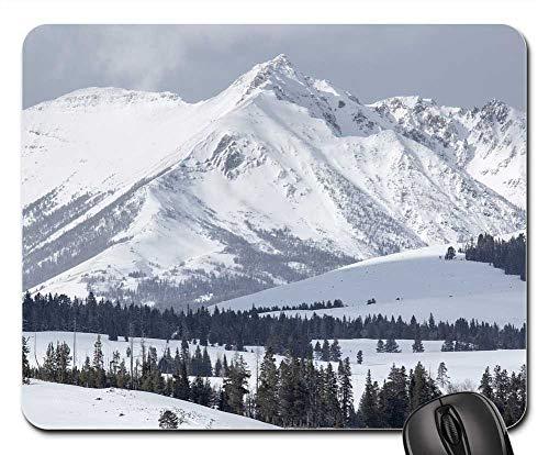 Mouse Pad - Electric Peak Mountains Gallatin Range Snow